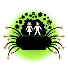 couple silhouette vector image vector image
