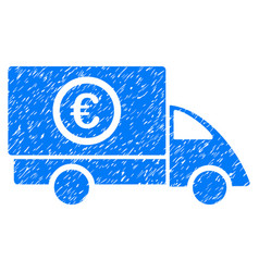 Euro delivery grunge icon vector