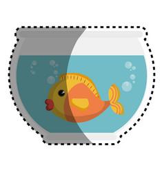 fish in aquarium pet vector image vector image