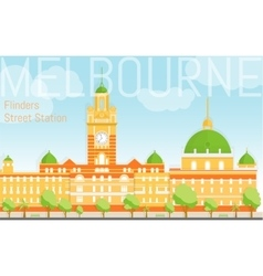 Flat design Flinders street station vector image