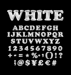 full english alphabet of white inflatable vector image