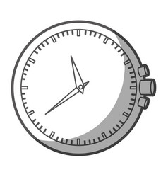 Grayscale silhouette of clock without bracelet vector