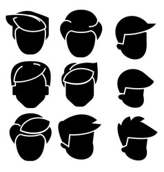 hairs men icon black sign on vector image vector image