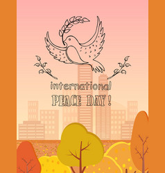 International peace day logo vector
