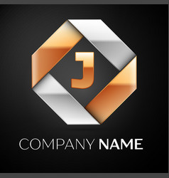 Letter j logo symbol in the colorful rhombus on vector