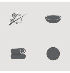Silhoutte spa objects vector