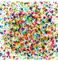 square abstract halftone colour background vector image