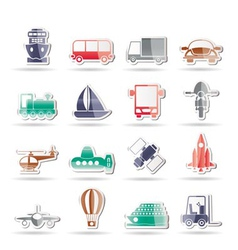 travel and shipment icons vector image vector image