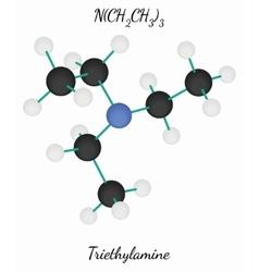 Triethylamine c6h15n molecule vector