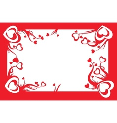 valentine card decoration vector image vector image