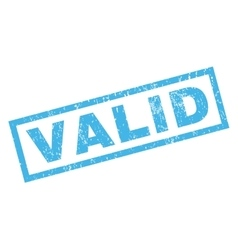 Valid rubber stamp vector