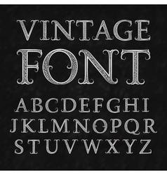 Vintage patterned letters Vintage font in floral vector image
