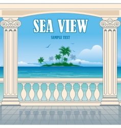 Wonderful sea view vector