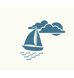 Yacht sea symbol vector