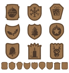 Christmas plaques vector
