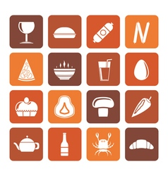 Flat shop food and drink icons vector
