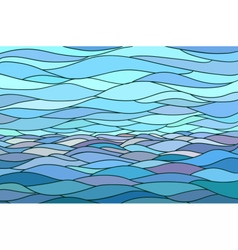 Abstract background with stylized wave and sky vector