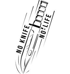 military knife bayonet vector image