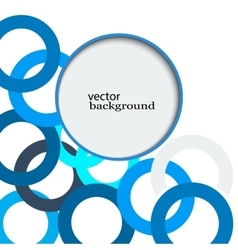 Abstract background consisting of blue overlapping vector image