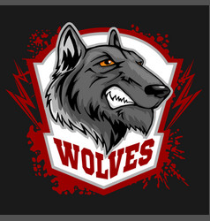 Wolves sports mascot howling wolf vector