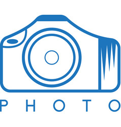 Abstract icon design template of photo camera vector