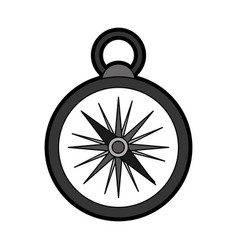 flat compass cartoon vector image