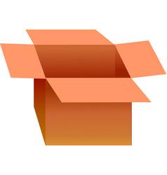 Opened cardboard box vector