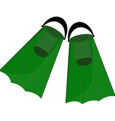 Green flippers vector