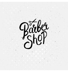 Simple text design for barber shop concept vector