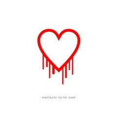 Heartbleed openssl bug shape bleeding heart vector