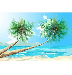 Palm trees scene vector