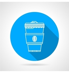Line icon for coffee cup vector