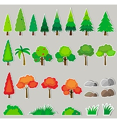 Different kind of plants vector image