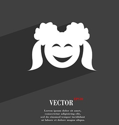 Smiling girl symbol flat modern web design with vector