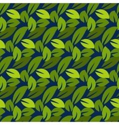 Stylized cartoon dense foliage seamless pattern vector