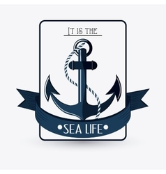 Flat about anchor design vector