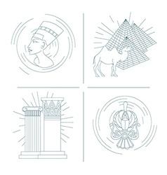 set of symbols of Egypt vector image