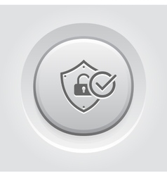 Security status icon vector