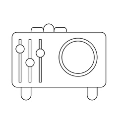 Retro style radio receiver icon outline style vector