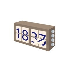 Analog flip clock icon cartoon style vector image
