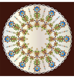 Antique ottoman turkish pattern design eighty two vector