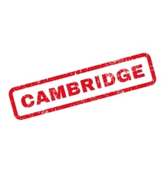 Cambridge text rubber stamp vector