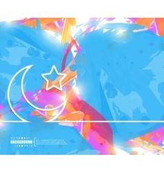 Creative crescent islamic art vector