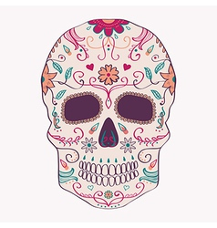 Day of the Dead skull with ornament vector image