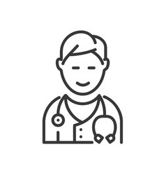 doctor - line design single isolated icon vector image vector image