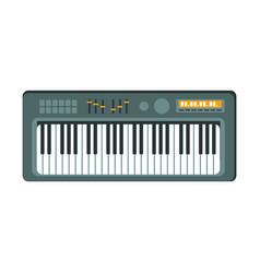 Electric keyboard part of musical instruments set vector