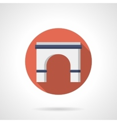 Entrance arch flat round icon vector image vector image