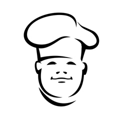 Face of a smiling chef in a toque vector image vector image