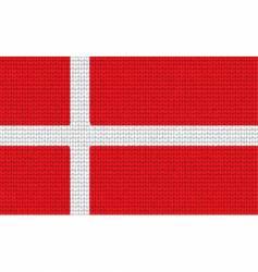 knitted Denmark flag vector image