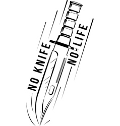 Military knife bayonet vector